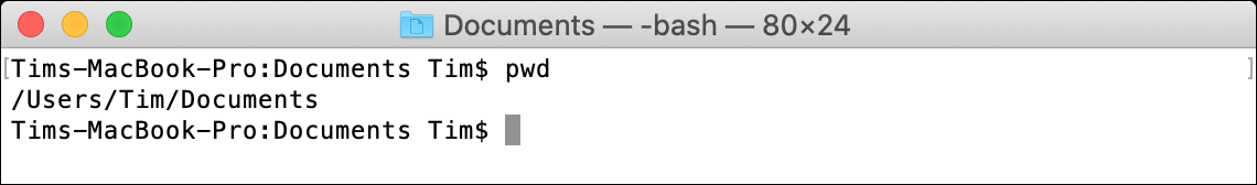 pwd macOS Terminal Command