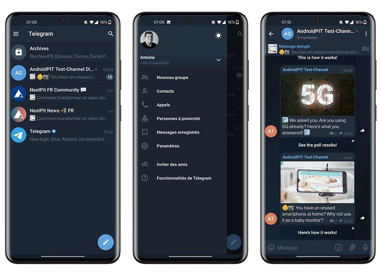 telegram app review ui design