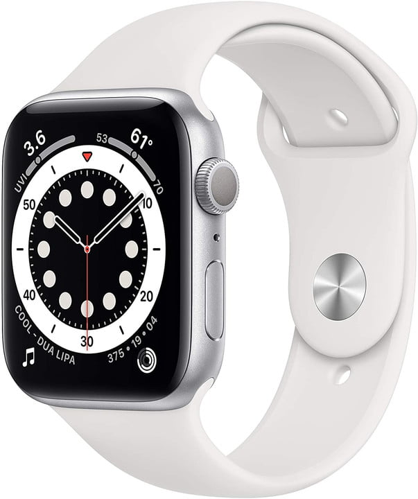 apple watch series 6 white on a white background