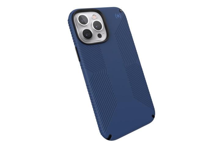 Speck Presidio2 Grip Case in dark blue for the iPhone 13 Pro Max.