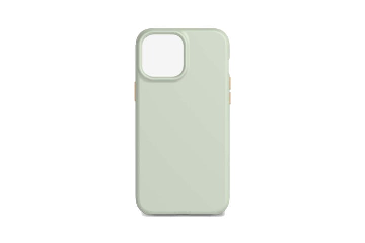 Tech21 Eco Slim Case in Mint Green for iPhone 13 Pro Max.