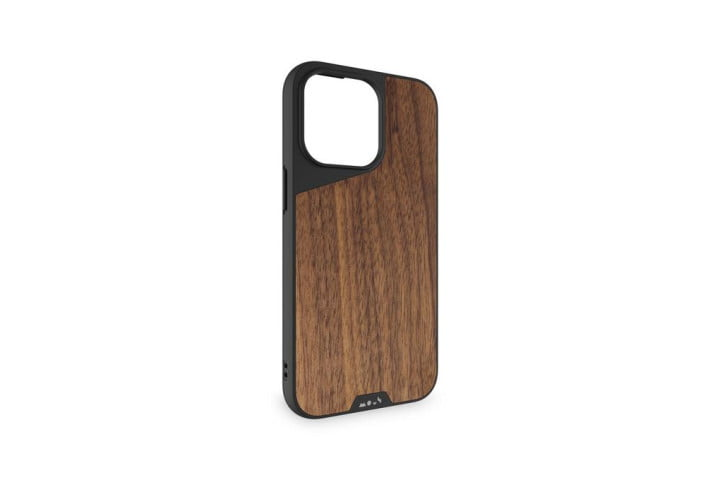 Mous Limitless 4.0 Case for iPhone 13 Pro Max in Walnut.