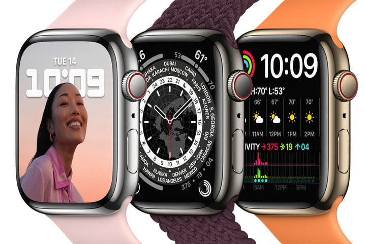 Apple Watch 7 design and display.