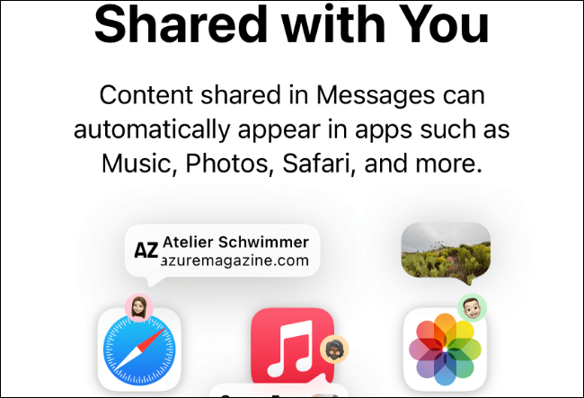Shared With You is new as of iOS 15.