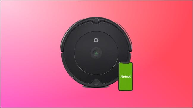 Roomba 694 on pink background