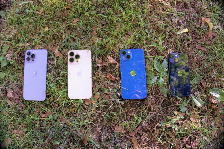 iPhone 13 models showing backs.