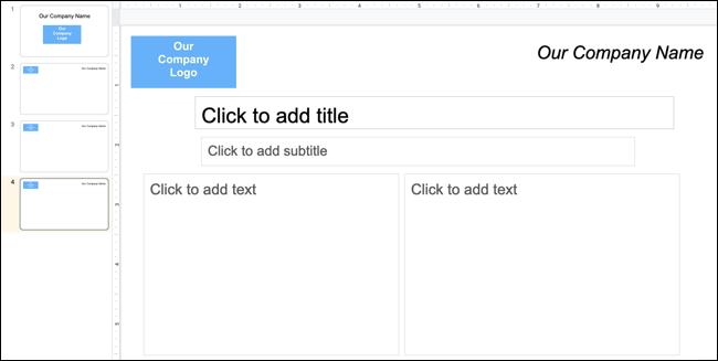 Use a template slide in Google Slides