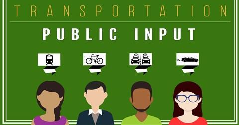 graphic that says Transportation Public Input