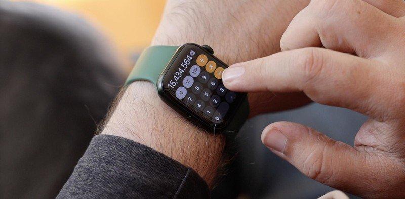 Apple Watch Series 7 Calculator Buttons