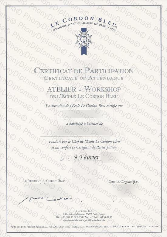 phony certificates