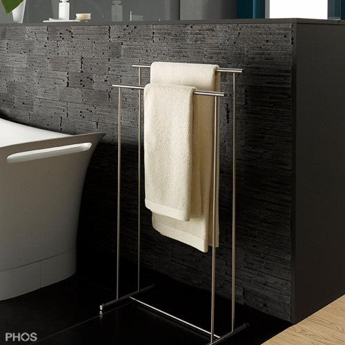 Handtuchhalter in zeitlosem Edelstahl Design