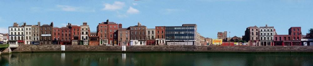 © David Jazay, Panorama of Lower Ormond Quay, Dublin 1992