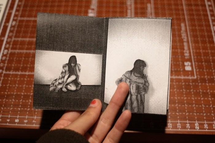 © Celeste Ortiz, 6,6 x 9,5 cm (27 x 19 cm open), b&w, selfpublished, edition of 20