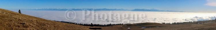 Panorama des Alpes depuis le Chasseron