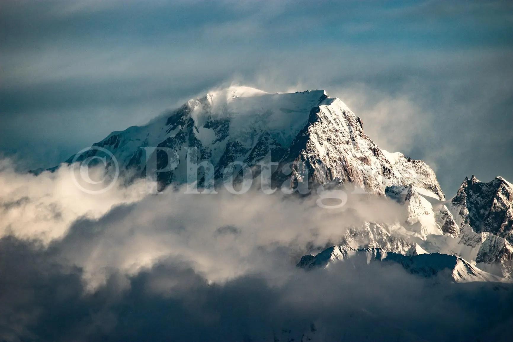 Mont Blanc depuis la Plagne