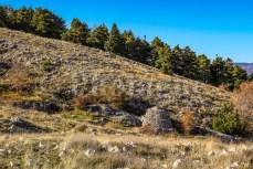 Des cahutes de berger en montant depuis Grasse