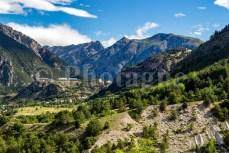 Briançon depuis le haut de Villar-Saint-Pancrace