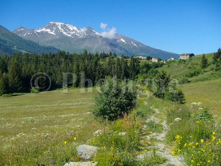 La vallée de l'Arc près de Bessans, en partant de notre bivouac