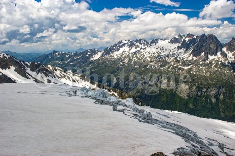 Le glacier du Tour et le massif des Aiguilles Rouges