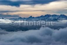 Le monte Cinto depuis le San Petrone