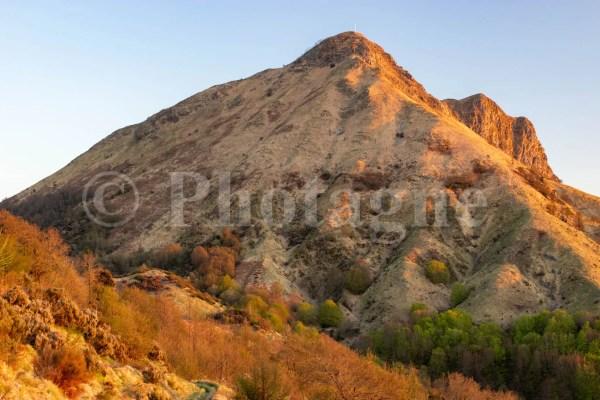 Monte Prana au soleil couchant