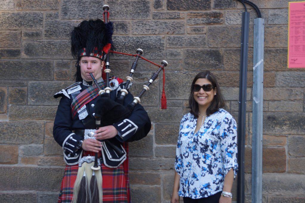 Bagpipes off the Royal Mile Edinburgh