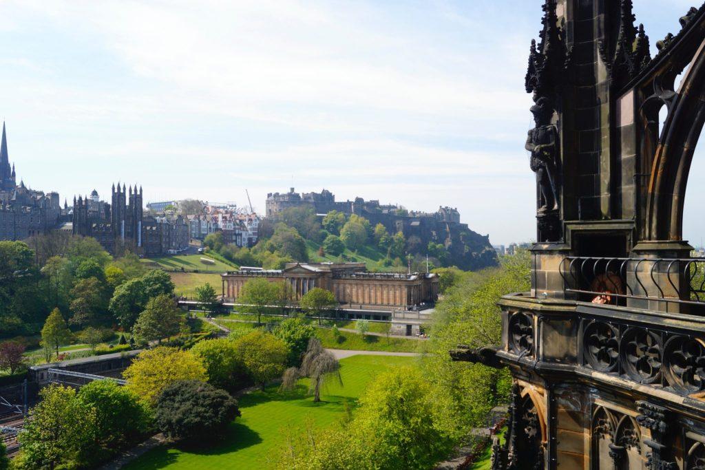 Scott Monument view of Edinburgh Castle