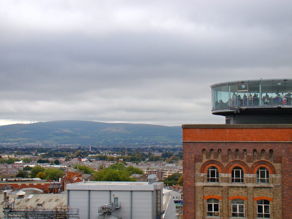 View of Guinness Storehouse Gravity Bar