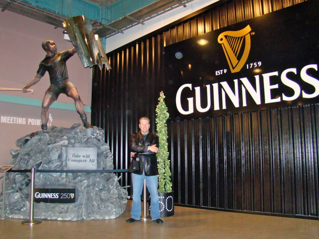 Statue commemorating the 250th anniversary of Guinness