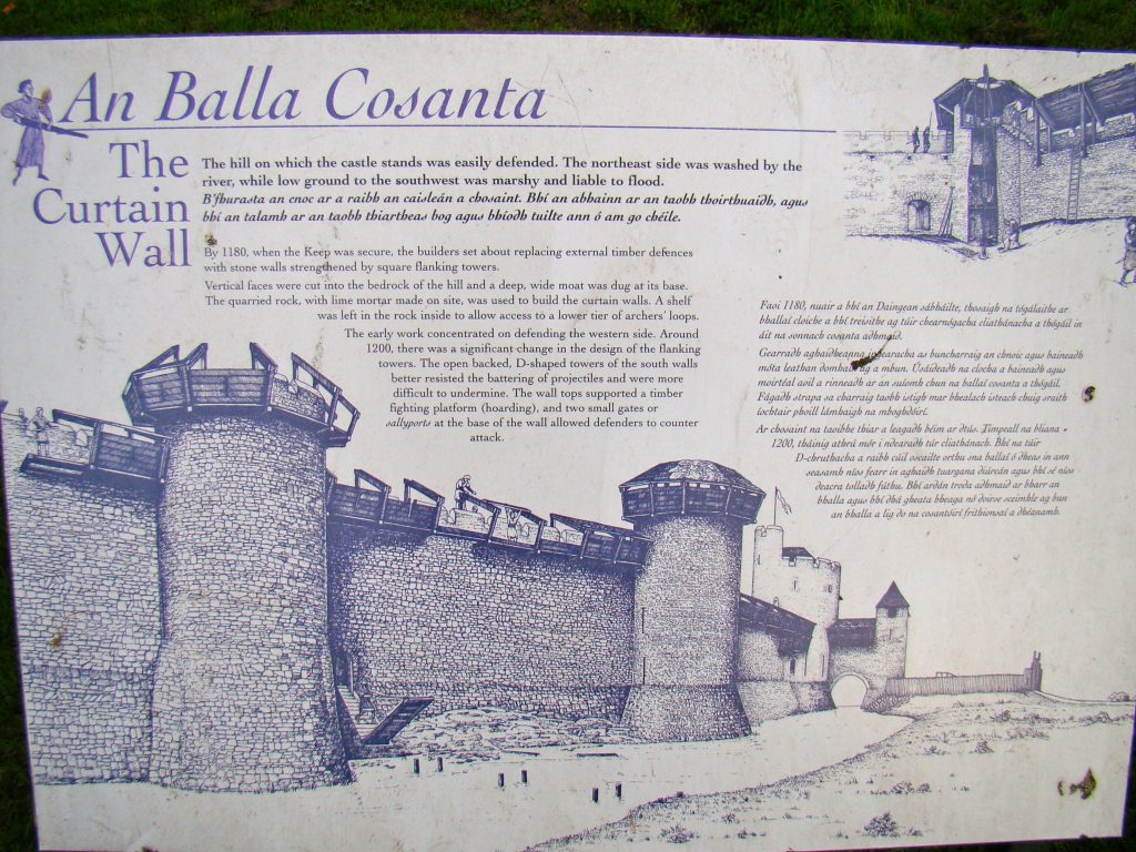The Curtain Wall at Trim Castle