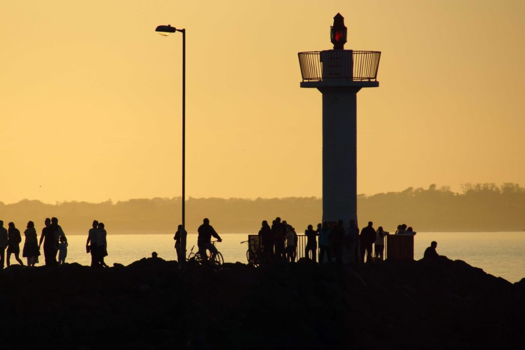 Howth Pier Lookout tower sunset