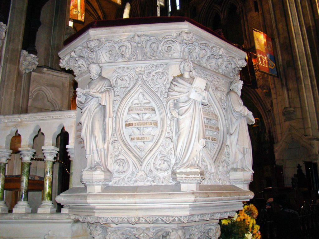Pulpit at Saint Patrick's Cathedral Dublin