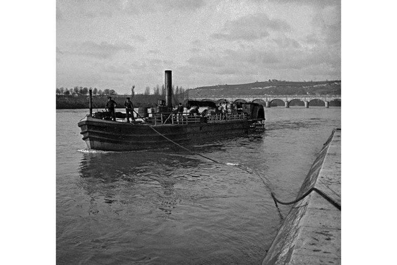 Vapeur sur la Garonne en 1910 ©photo archive Patrick Clermont