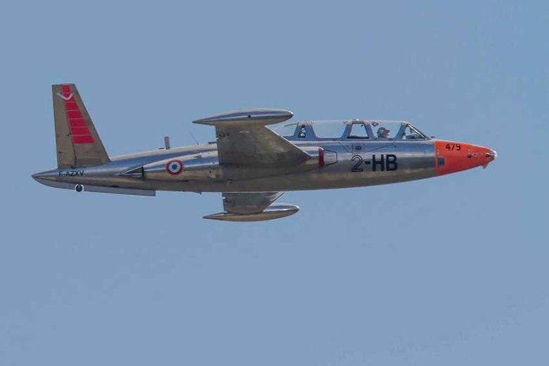 Le Fouga Magister CM 170 a servi la patrouille de france pendant 24 ans©photo Patrick Clermont