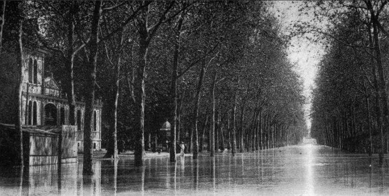 La Garonne sur le cours Gambetta en 1910©photo archive Patrick Clermont
