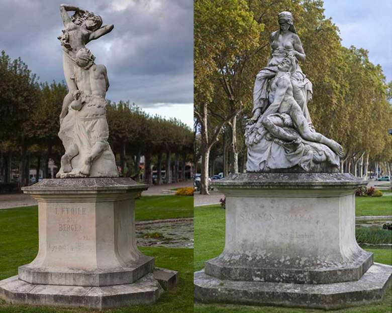 Promenade du Gravier- Statutes étoile du Berger et Samson et Dallila