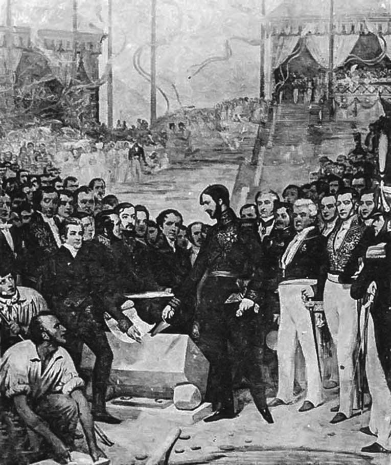 Pose de la première pierre du pont canal à Agen en 1839 par le duc d'orléans