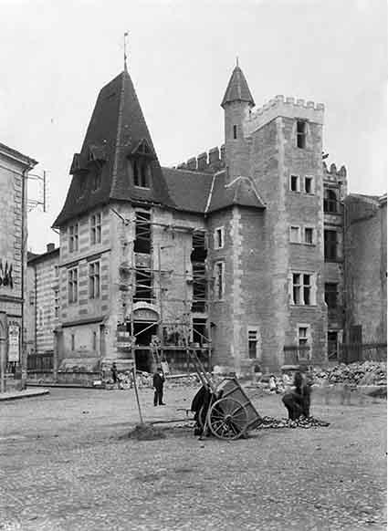 Les travaux du musée d'Agen en 1905