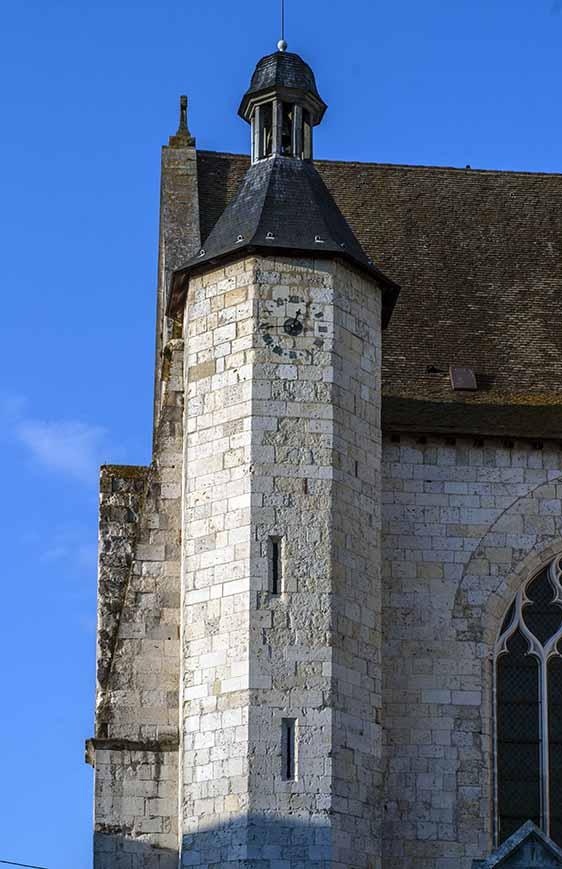 Cathédrale Saint-Caprais-Tour de l'horloge Hexagonale