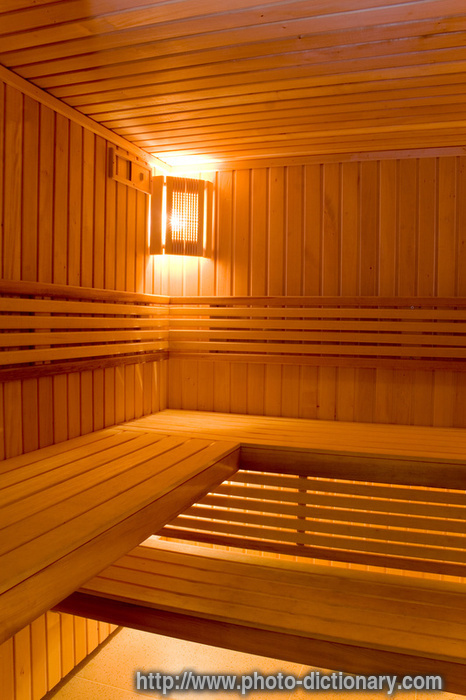 sauna  photopicture definition at Photo Dictionary  sauna word and phrase defined by its