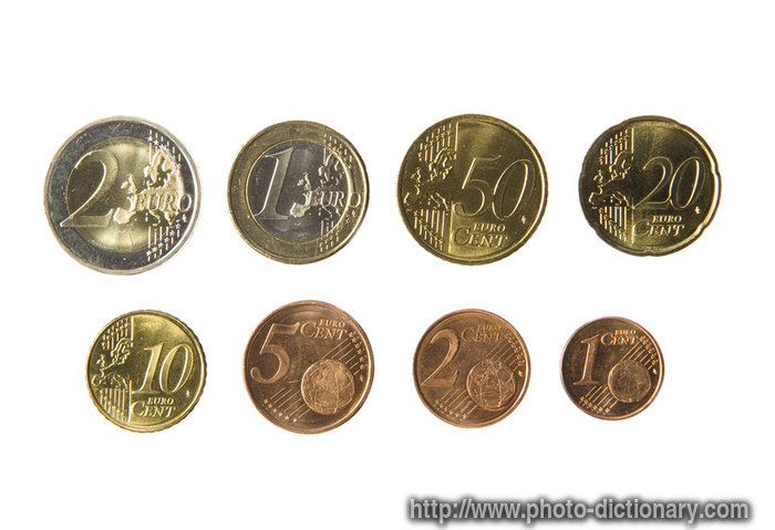 euro coins  photopicture definition at Photo Dictionary