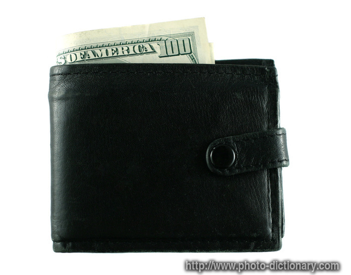 wallet  photopicture definition at Photo Dictionary  wallet word and phrase defined by its