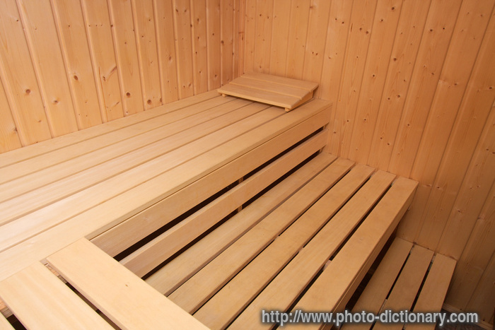 wooden sauna  photopicture definition at Photo Dictionary  wooden sauna word and phrase