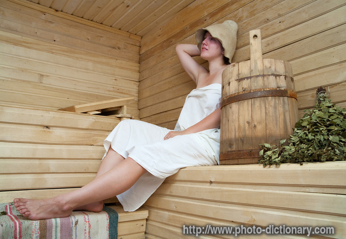 steam bath  photopicture definition at Photo Dictionary