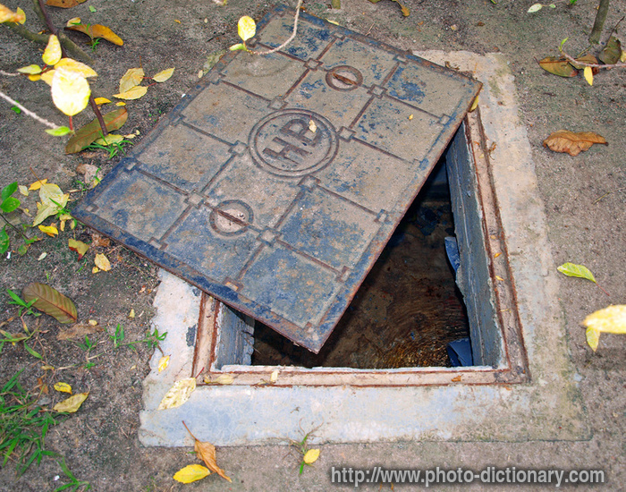 manhole cover  photopicture definition at Photo