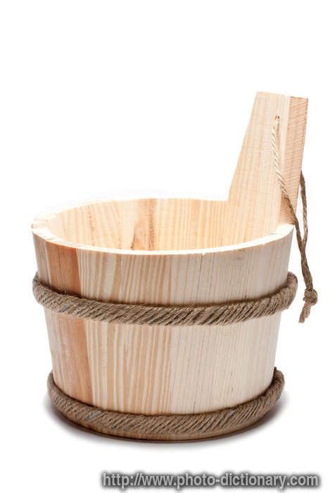 sauna bucket  photopicture definition at Photo