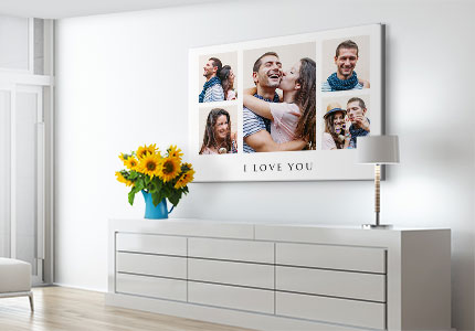 photo collage on canvas