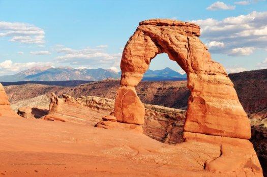 Delicate Arch,  est la plus photographiée des 2000 arches du parc national de Arches, dans l'Utah.