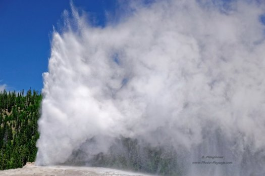 Geyser Old Faithful, parc national de Yellowstone, Wyoming, USA
