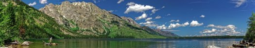 Photo panoramique du Jenny Lake, parc national de Grand Teton, Wyoming, USA